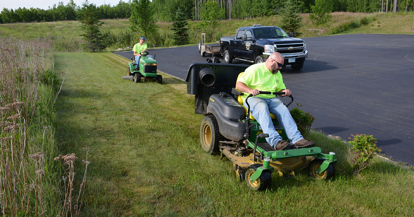 Contact 5 Star Pest Control & Cabin Care for scheduled mowing, trimming and heneral cleanup.